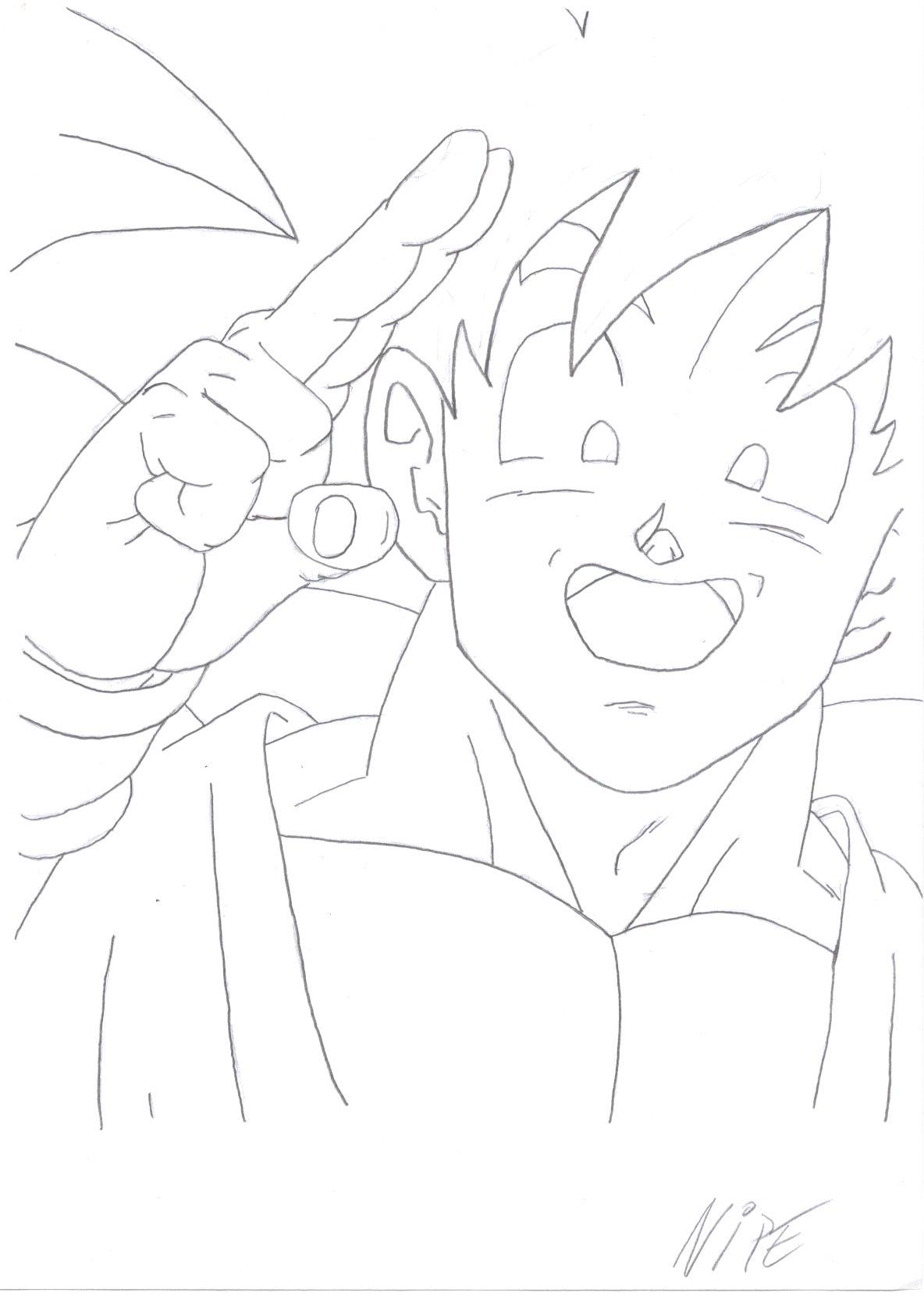 Dessin Manga Visage Dragon Ball Dessin De Manga