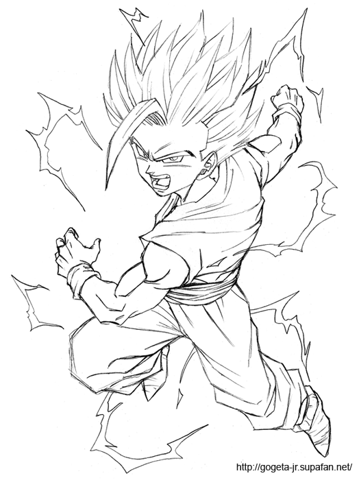 Free O Teen Gohan Coloring Pages