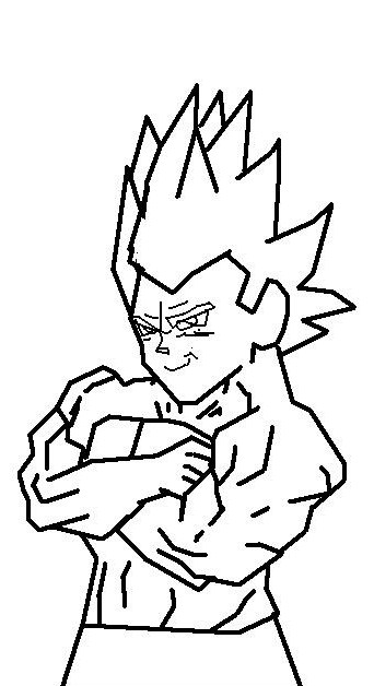 super saiyan vegeta drawing. Super Saiyan Vegeta level 2