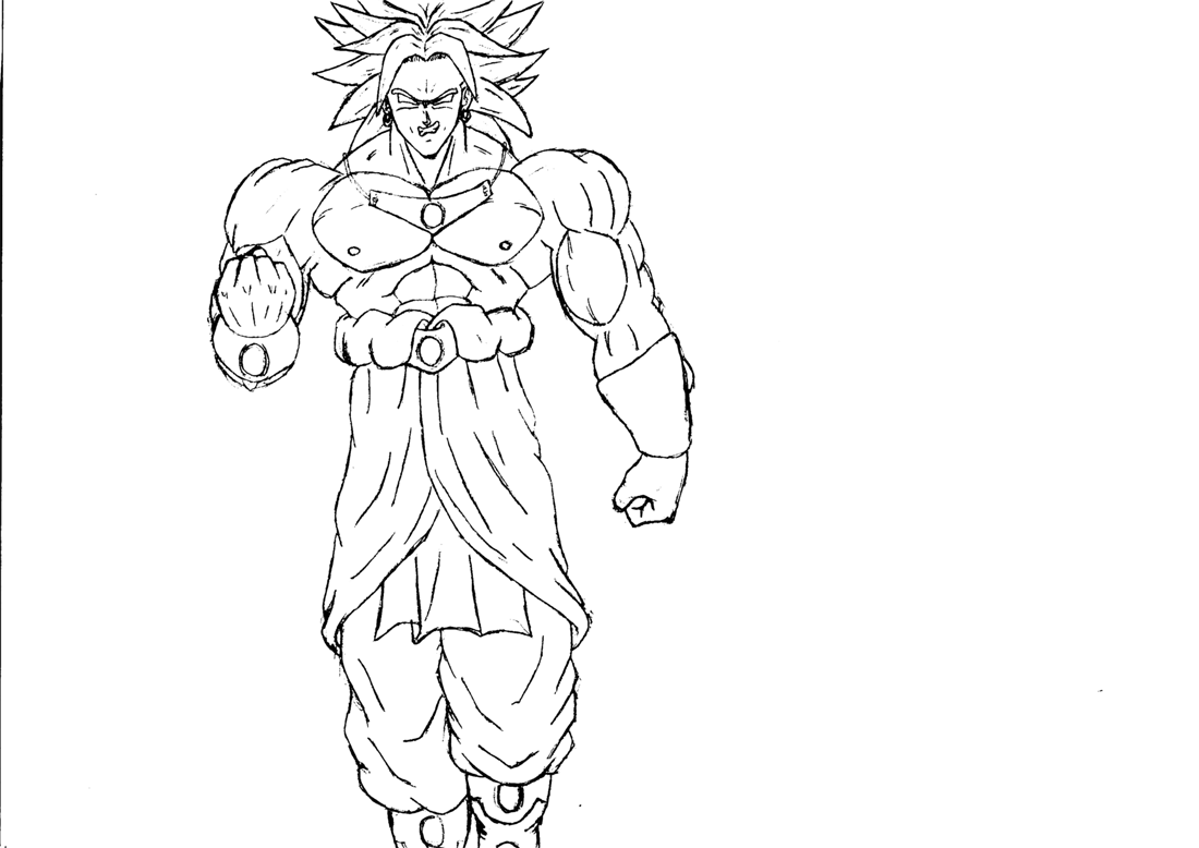 Supafan union gallery style 1413 for Dragon ball z broly coloring pages
