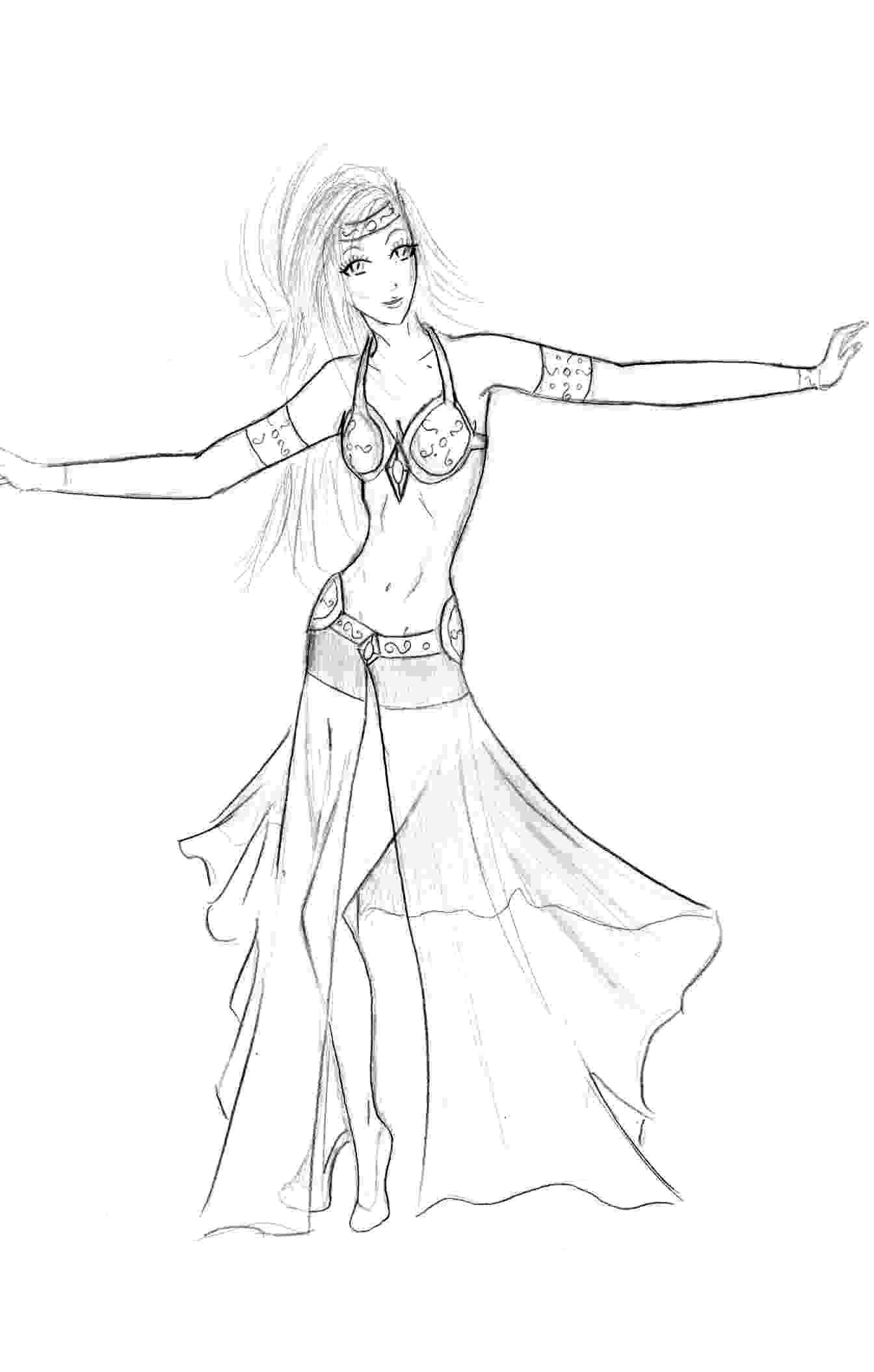 danseuse orientale Coloriage